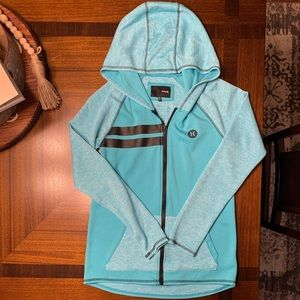 SIZE Small Teal Nike Dri Fit Hurley Zip-Up Hoodie
